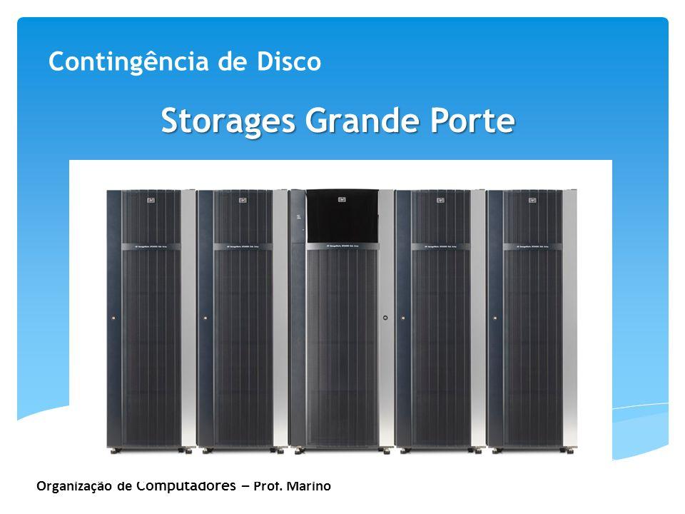 Organização de Computadores – Prof. Marino Contingência de Disco Storages Grande Porte