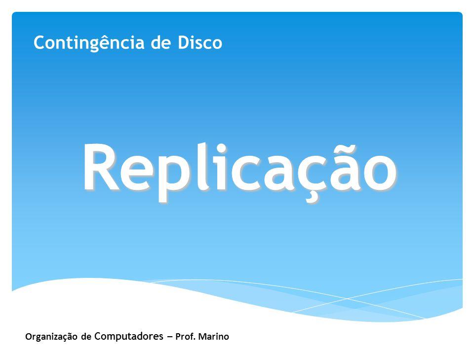 Organização de Computadores – Prof. Marino Contingência de Disco Replicação