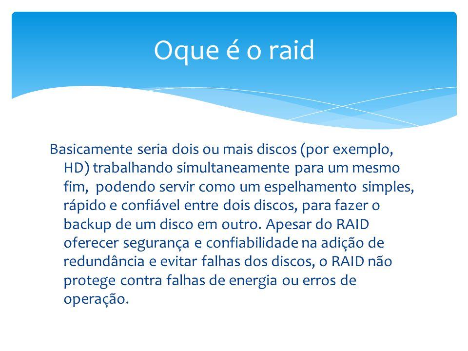 Redundant Array of Independent Drives, ou mais conhecido como simplesmente RAID ou em portugues Conjunto Redundante de Discos Independentes ou também Conjunto Redundante de Discos Econômicos, é um meio de se criar um sub-sistema de armazenamento composto por vários discos individuais, com a finalidade de ganhar segurança e desempenho.