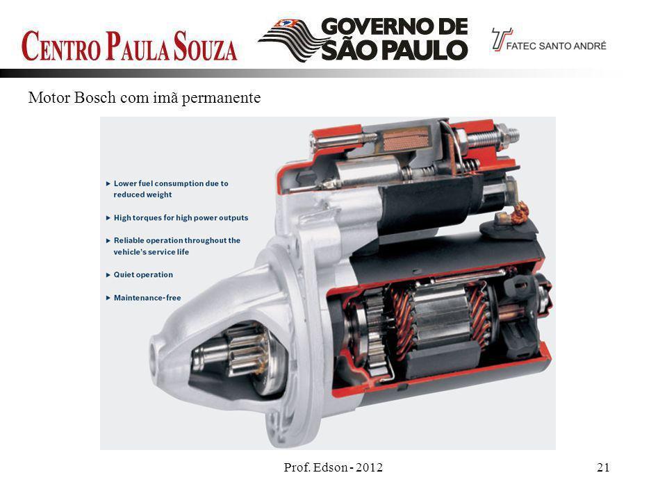 Prof. Edson - 201221 Motor Bosch com imã permanente