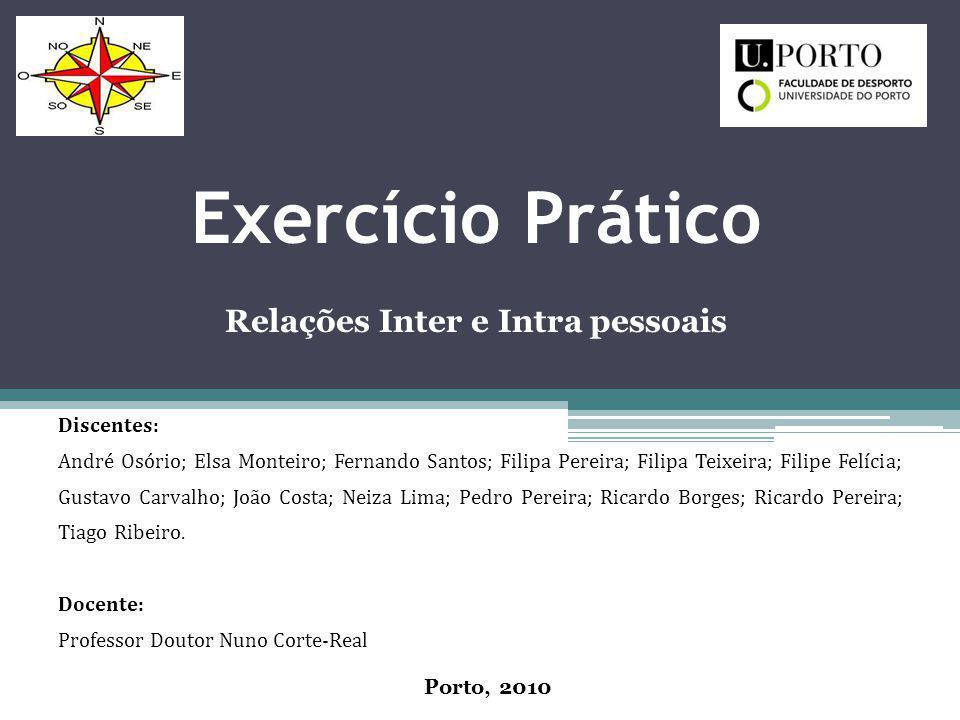 Exercício Prático Relações Inter e Intra pessoais Discentes: André Osório; Elsa Monteiro; Fernando Santos; Filipa Pereira; Filipa Teixeira; Filipe Fel