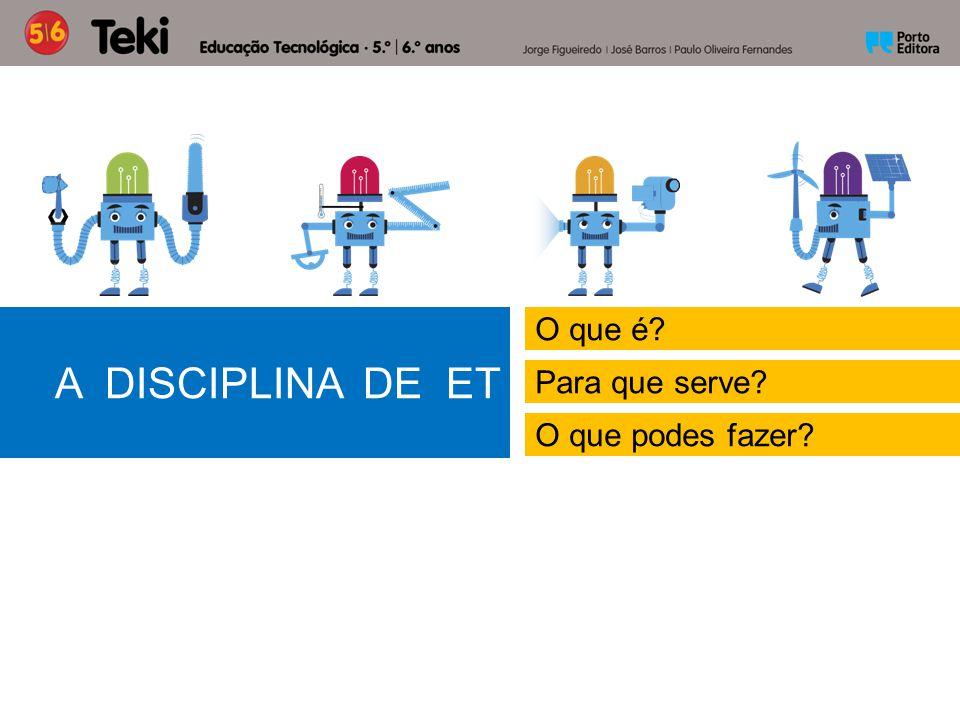 Na disciplina de ET Vais aprender o que é a tecnologia e a técnica.