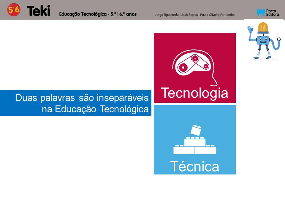 Duas palavras são inseparáveis na Educação Tecnológica Tecnologia Técnica