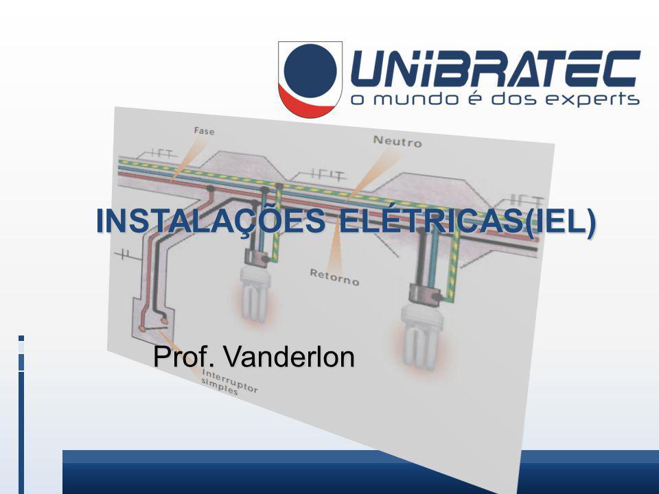 INSTALAÇÕES ELÉTRICAS(IEL) Prof. Vanderlon Prof. Vanderlon