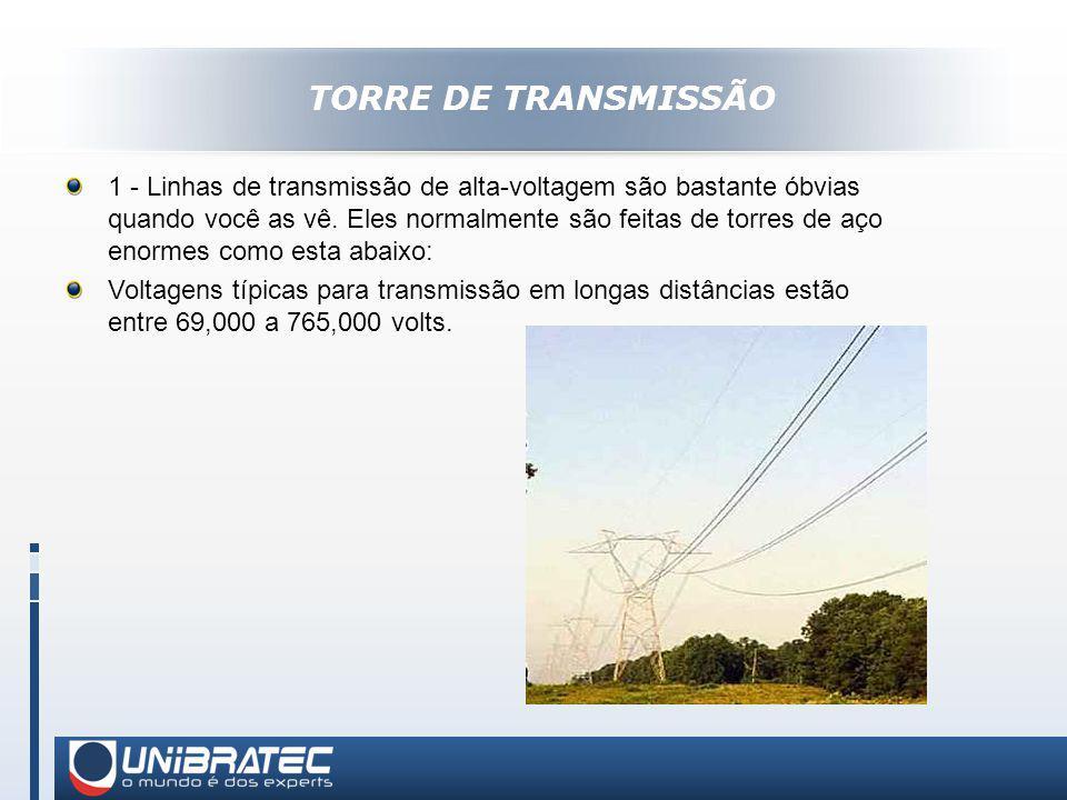 TORRE DE TRANSMISSÃO 1 - Linhas de transmissão de alta-voltagem são bastante óbvias quando você as vê.