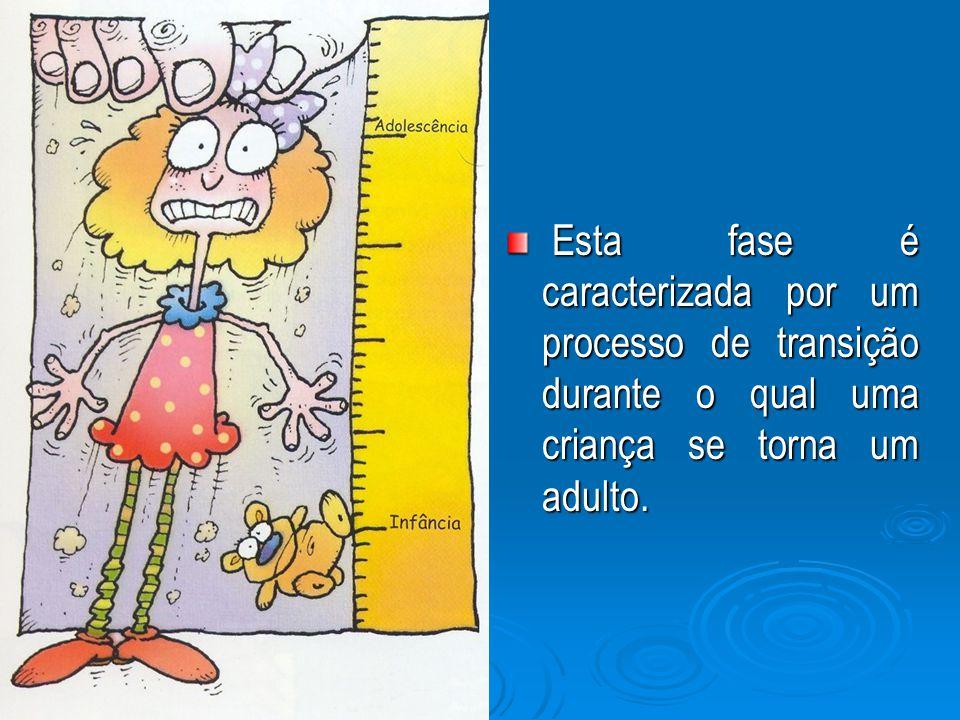 Durante esta fase ocorre todo tipo de alterações: físicas, emocionais, mentais, sociais, sexuais.