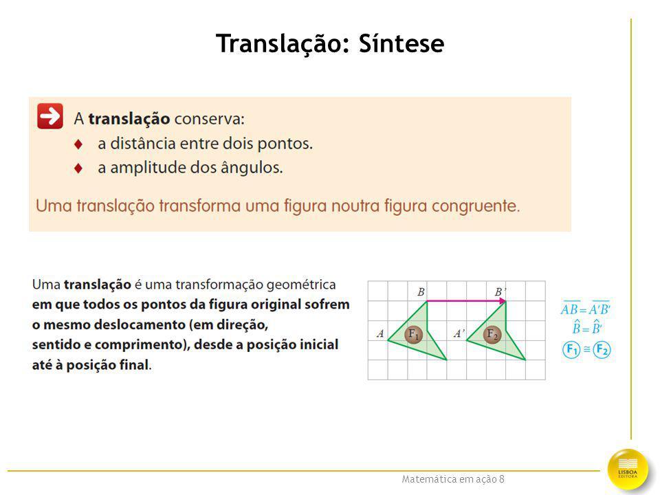 Matemática em ação 8 Translação: Síntese