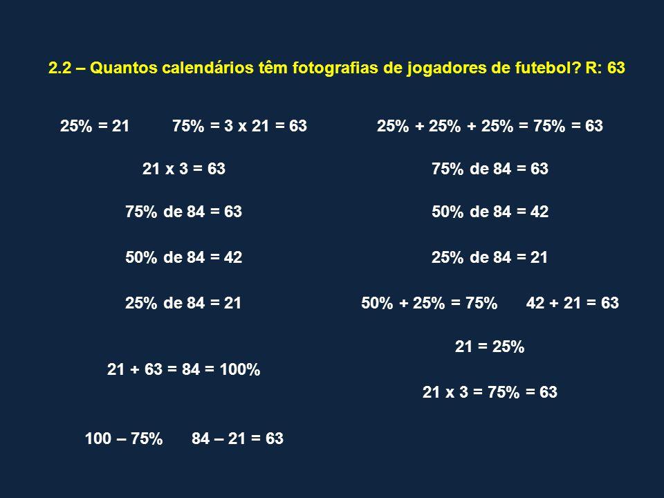 100% de 840 = 50% de 840 = 25% de 840 = 75% de 840 = 20% de 840 = 10% de 840 = 5% de 840 = 1% de 840 = 125% de 840 = 120% de 840 = 150% de 840 = 200% de 840 = CALCULA MENTALMENTE: O que podes concluir?