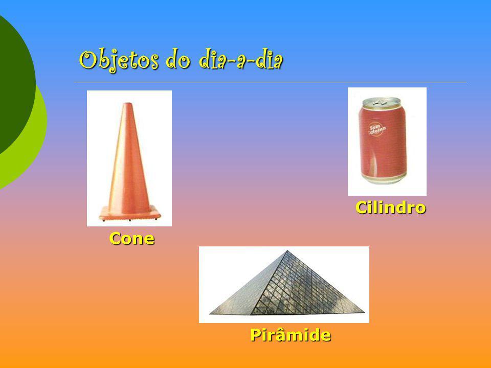 Cone Cilindro Pirâmide Objetos do dia-a-dia