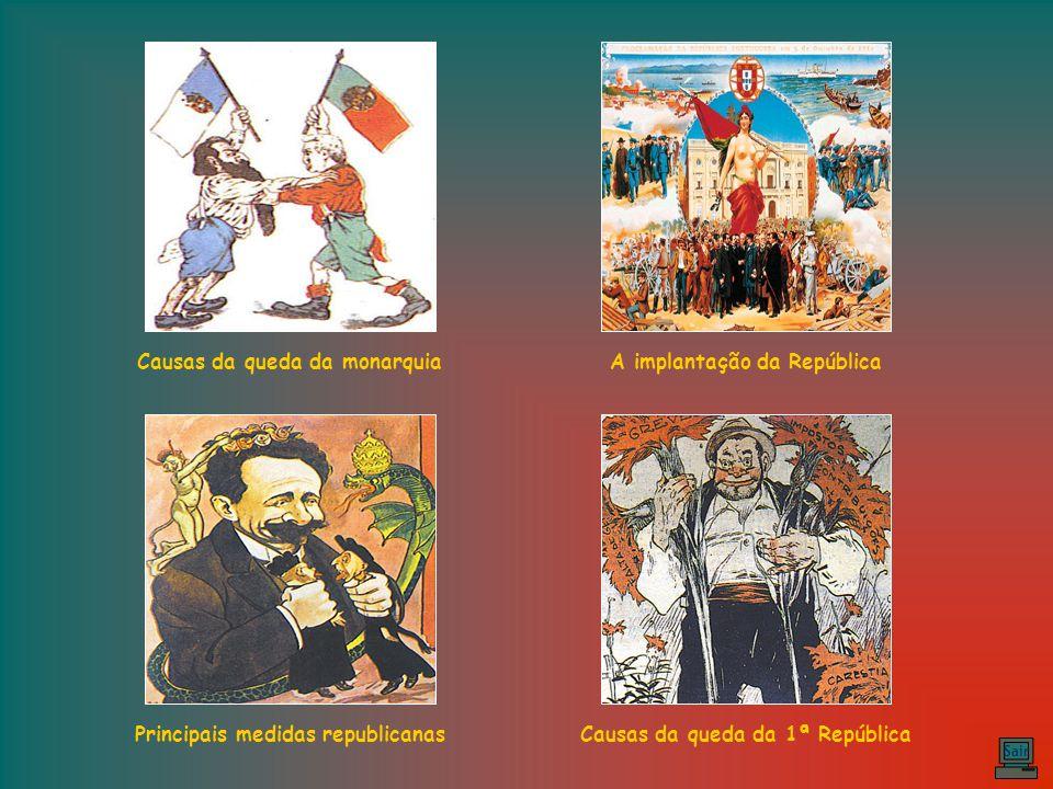 A proclamação da República – No dia 5 de Outubro de 1910, a República foi proclamada na varanda da Câmara Municipal de Lisboa por José Relvas, dirigente republicano.