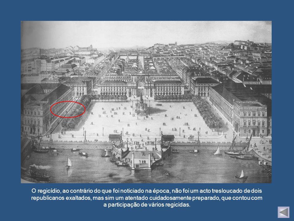 Representação do regicídio, publicada no jornal francês Le Petit Journal