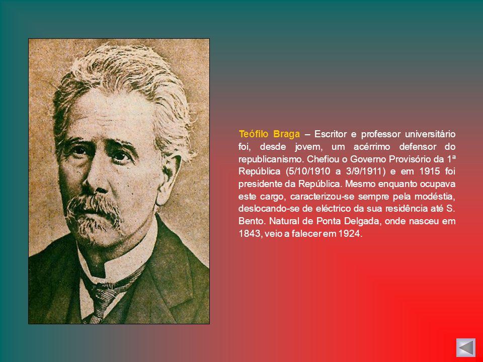 A proclamação da República – No dia 5 de Outubro de 1910, a República foi proclamada na varanda da Câmara Municipal de Lisboa por José Relvas, dirigen
