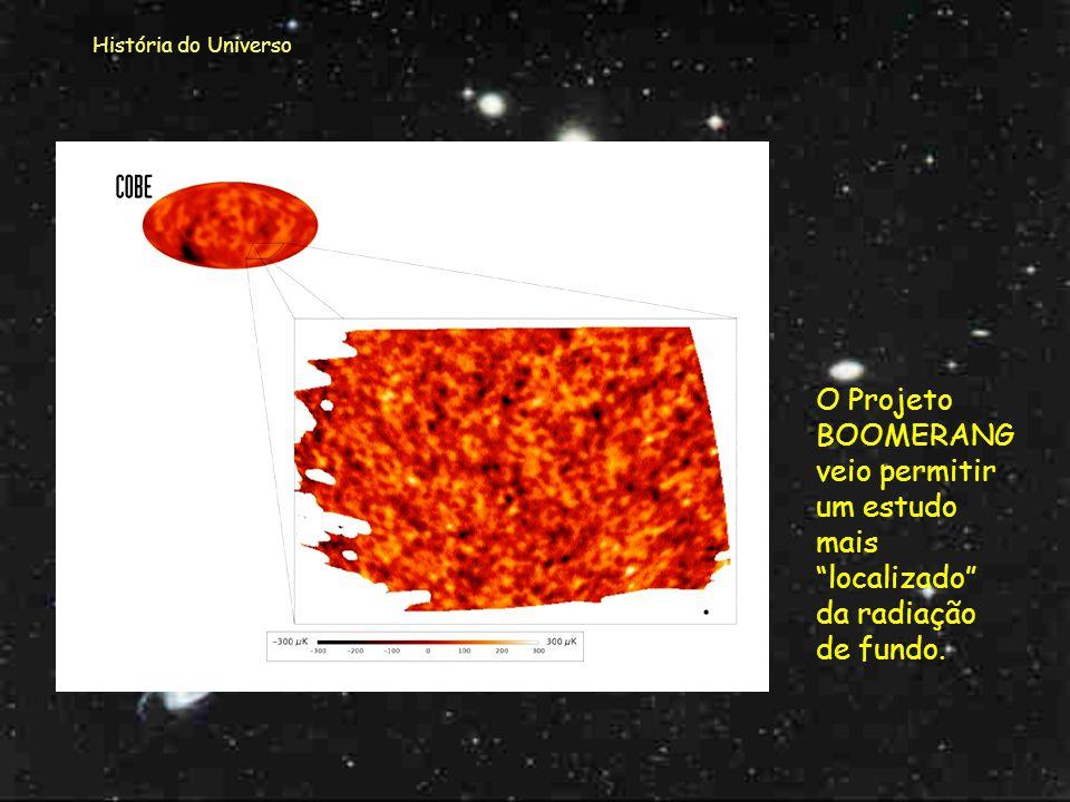 História do Universo Quanto à observação das temperaturas na Radiação de Fundo...