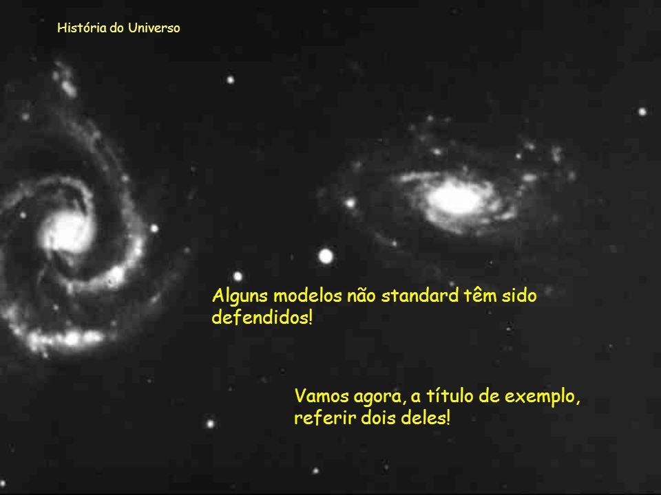 História do Universo Modelos não standard