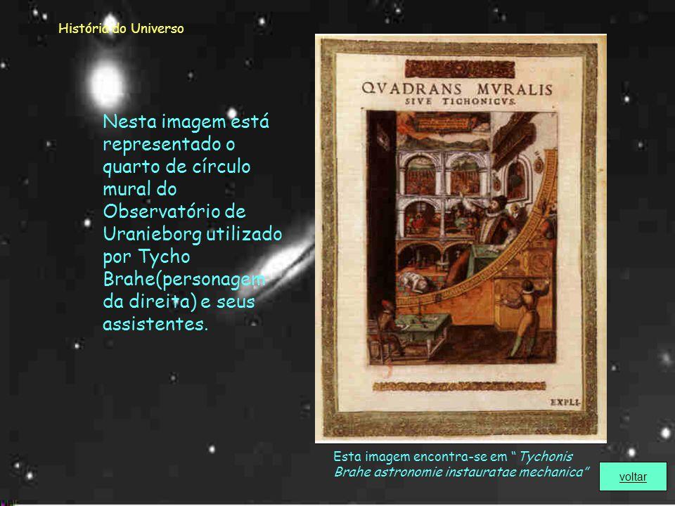 História do Universo Tycho Brahe (1546 – 1601) Começou a interessar-se pela Astronomia apenas com 14 anos de idade.