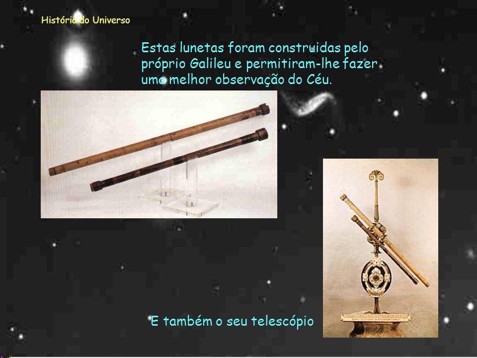 História do Universo Galileu (1564 – 1642) Galileu dedicou-se a novos conceitos: - tempo e distância - velocidade e aceleração - forças e matéria