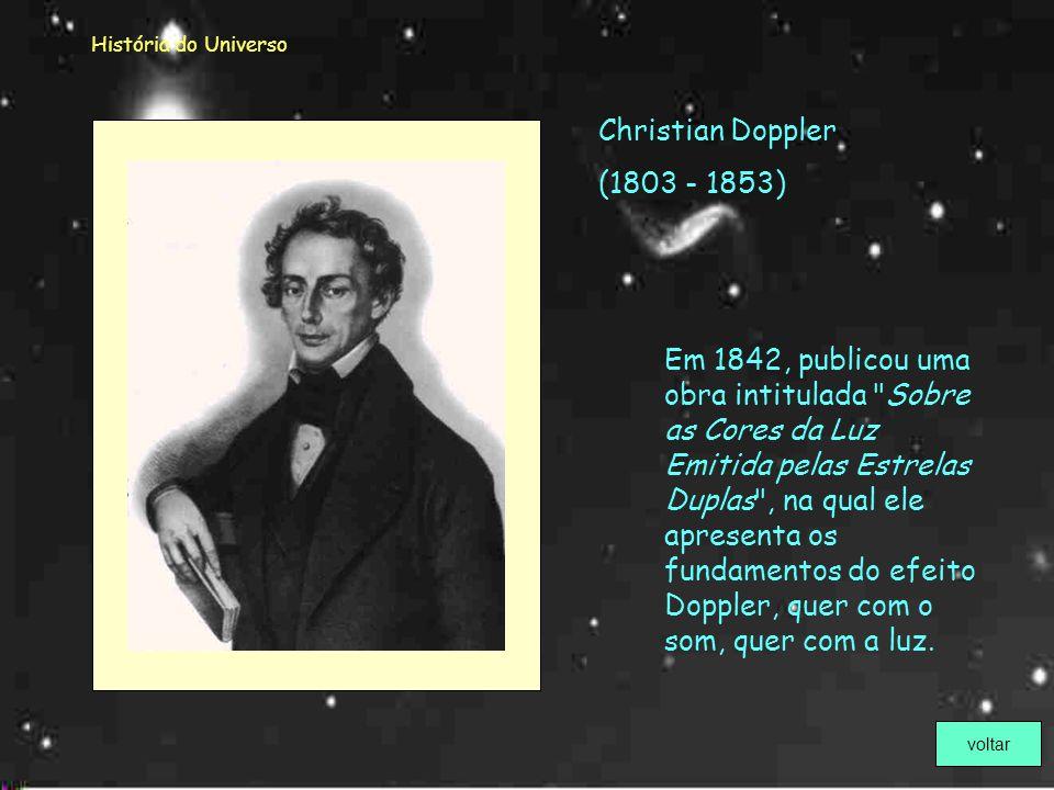 História do Universo Este telescópio, com pouco mais de um palmo de comprimento, foi construído por Newton. Foi o primeiro telescópio refletor. voltar