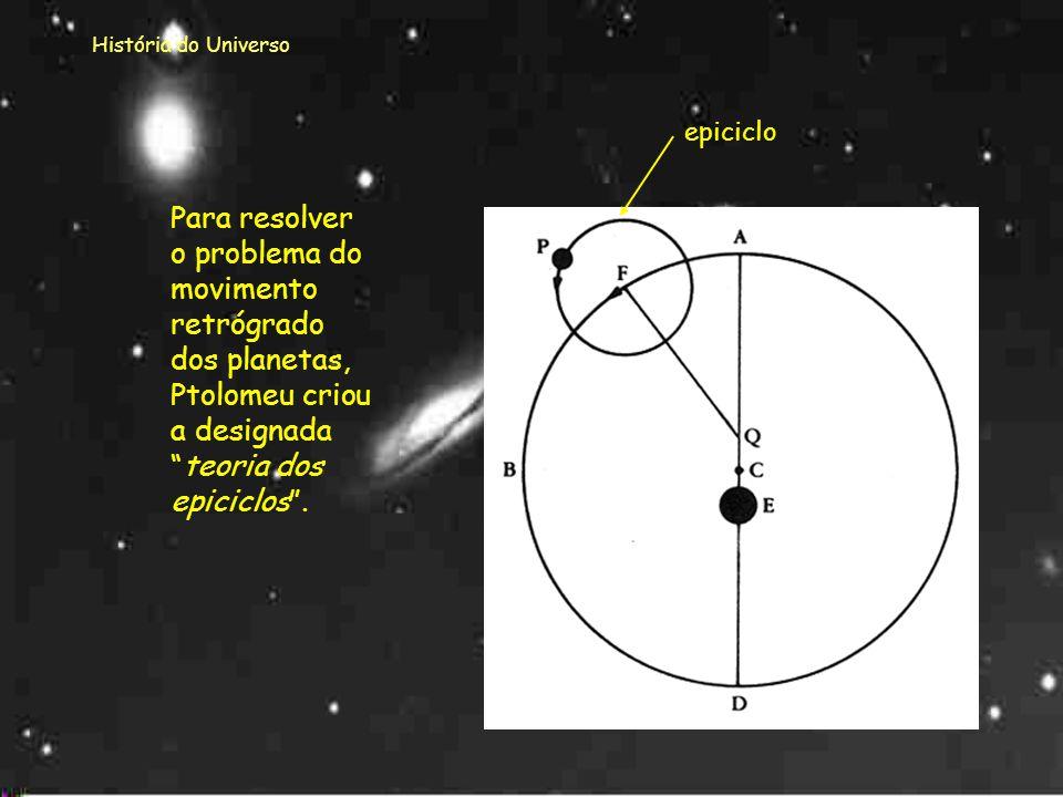 História do Universo O modelo de Ptolomeu visto pelos astrónomos medievais.