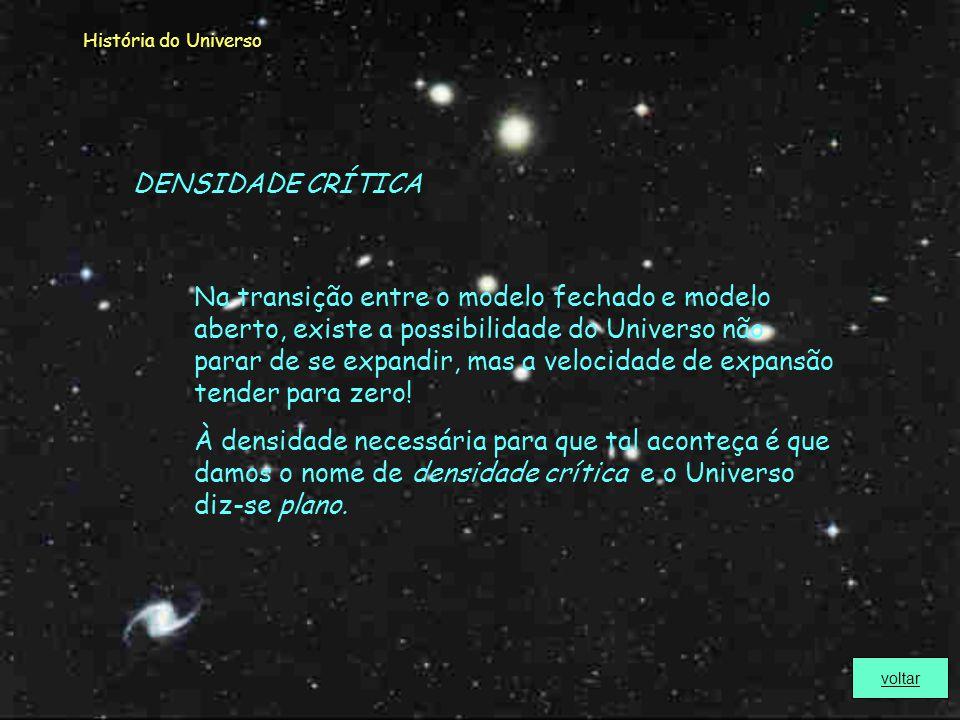História do Universo Define-se Cosmologia como o ramo da astronomia e da astrofísica que estuda o nascimento, a estrutura e a evolução do Universo no