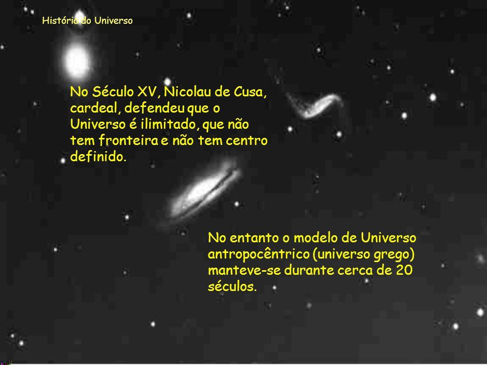 História do Universo Outras representações... Practica compendiosa artis, publicada em 1523, por Ramon Lull Cosmographia, publicada em 1539, por P. Ap