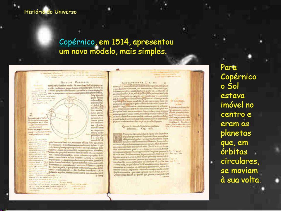 História do Universo Finalmente a revolução heliocêntrica...