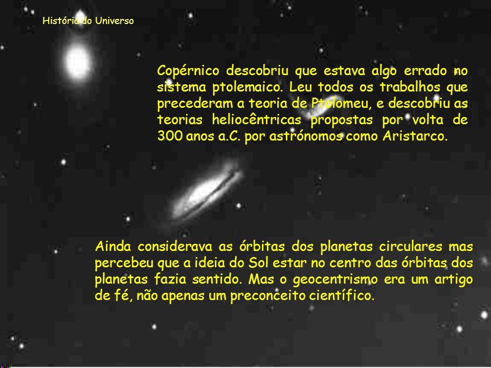 História do Universo Modelo de Copérnico