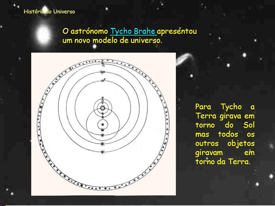 História do Universo Com Thomas Digges a ideia do universo ser heliocêntrico começa a ser aceite. A esfera exterior constituída pelas estrelas é remov