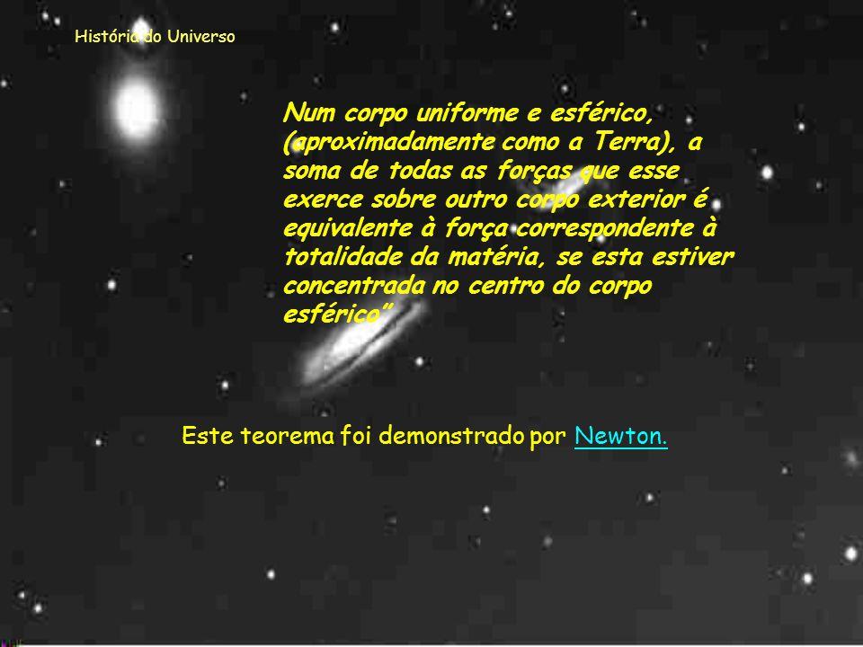 História do Universo Os resultados obtidos nas observações de Galileu e as órbitas elípticas de Kepler continuaram a dar sentido ao tipo de Universo d