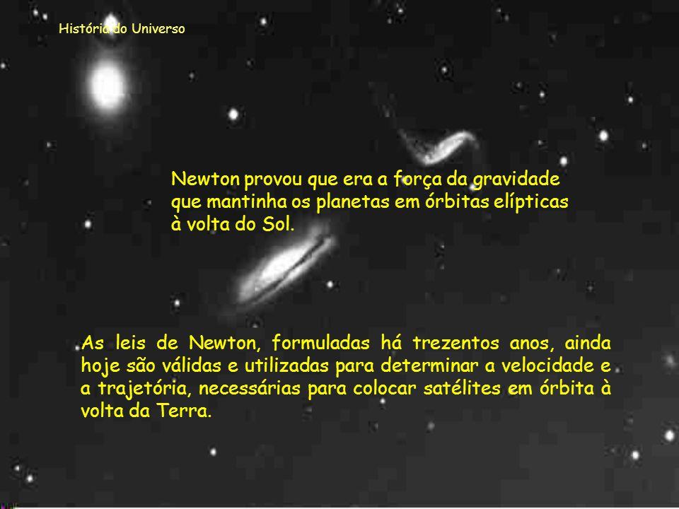História do Universo Num corpo uniforme e esférico, (aproximadamente como a Terra), a soma de todas as forças que esse exerce sobre outro corpo exteri