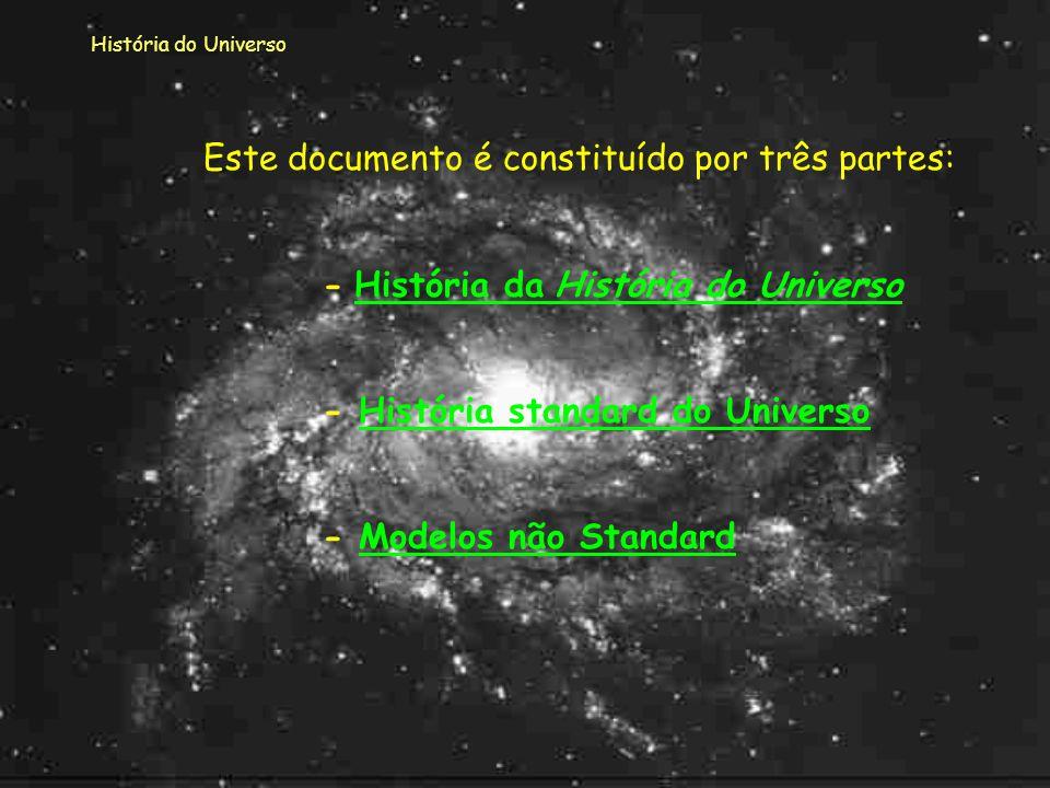 História do Universo Quando ao longo do trabalho aparecerem no texto palavras de cor diferente, deves clicar em cima da palavra pois serás encaminhada