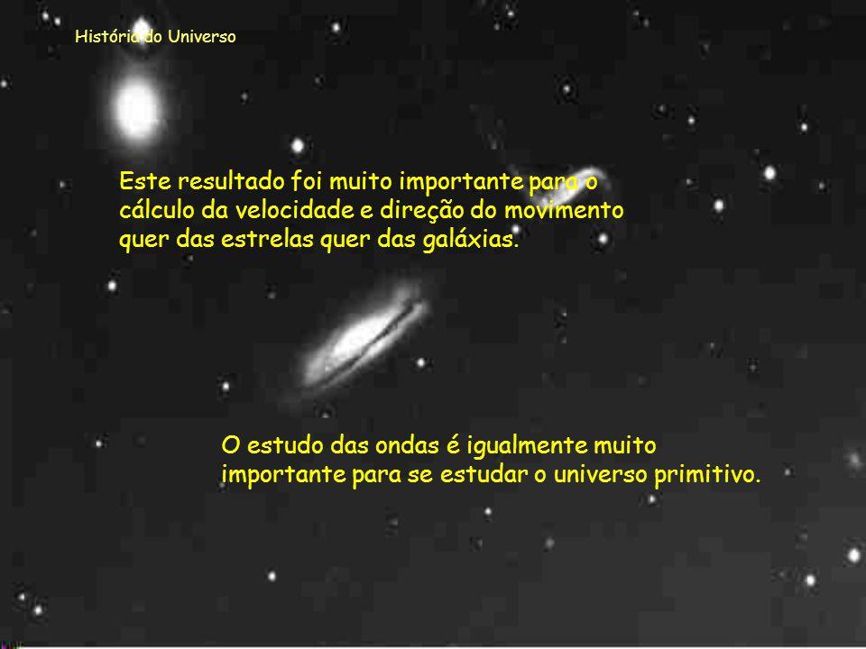 História do Universo O EFEITO DE DOPPLER não é mais que o desvio no comprimento ou na frequência de onda. Quando o desvio é para o vermelho, isto é o