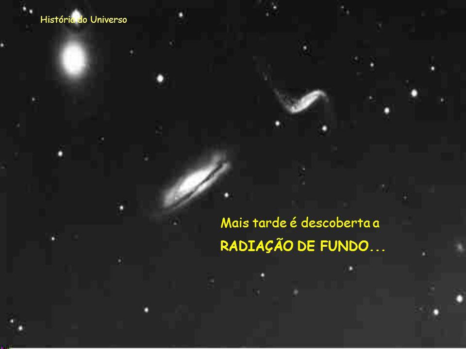 História do Universo Estava agora comprovada a EXPANSÃO DO UNIVERSO!