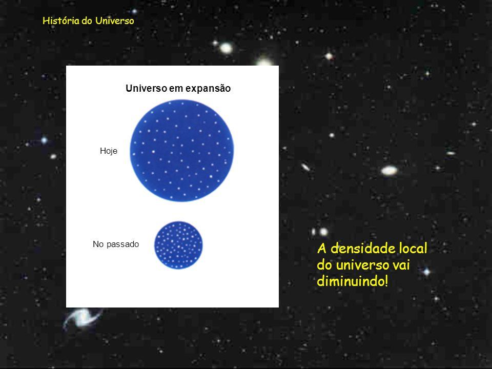 História do Universo Mas para a hipótese do modelo ser fechado, caso em que o Universo colapsava, era necessário que a força da gravidade fosse sufici