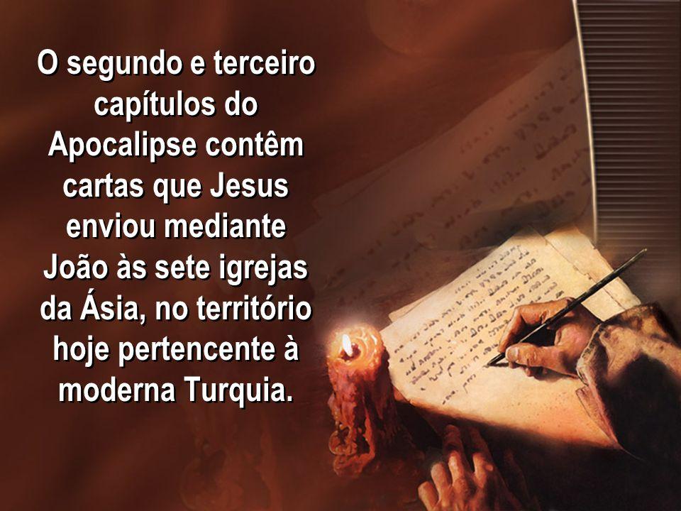 As igrejas são: Éfeso, Esmirna, Pérgamo, Tiatira, Sardes, Filadélfia e Laodicéia.