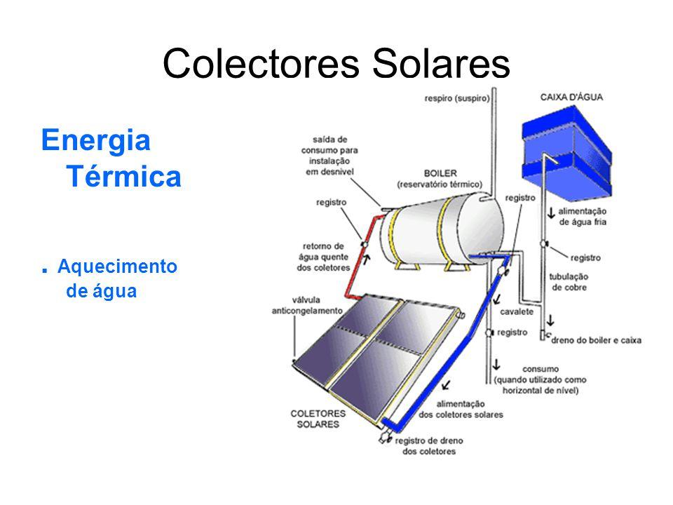 Colectores Solares Energia Térmica. Aquecimento de água