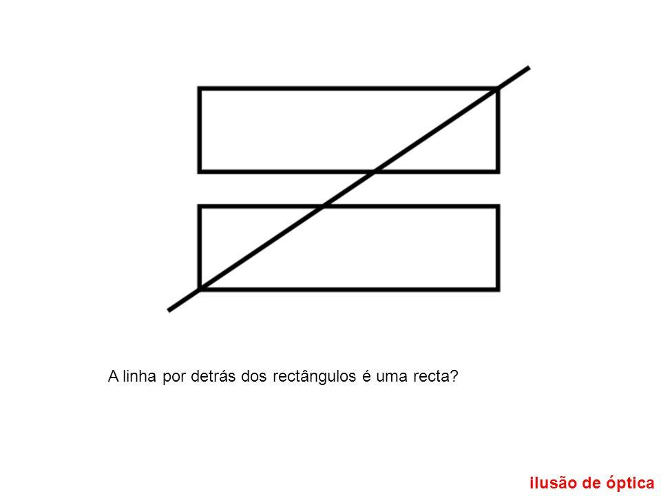A linha por detrás dos rectângulos é uma recta?