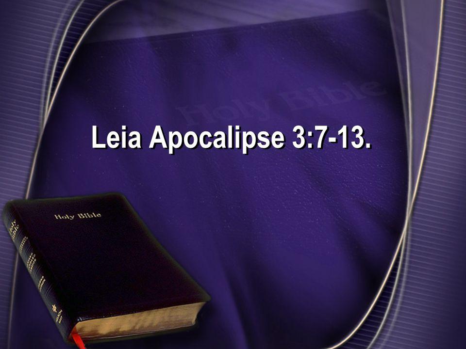 No final das mensagens às sete igrejas, Jesus está à porta e bate.