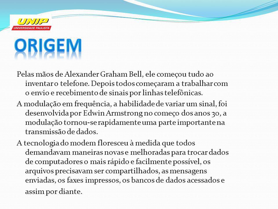 Pelas mãos de Alexander Graham Bell, ele começou tudo ao inventar o telefone. Depois todos começaram a trabalhar com o envio e recebimento de sinais p