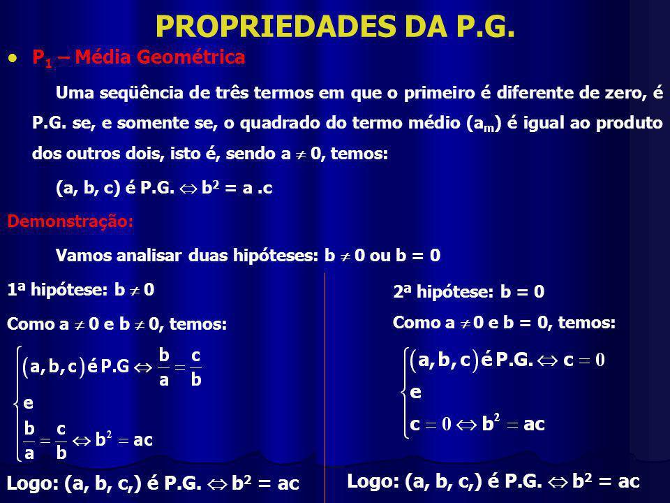 PROPRIEDADES DA P.G.