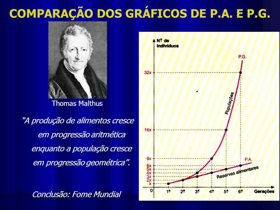 COMPARAÇÃO DOS GRÁFICOS DE P.A.E P.G.