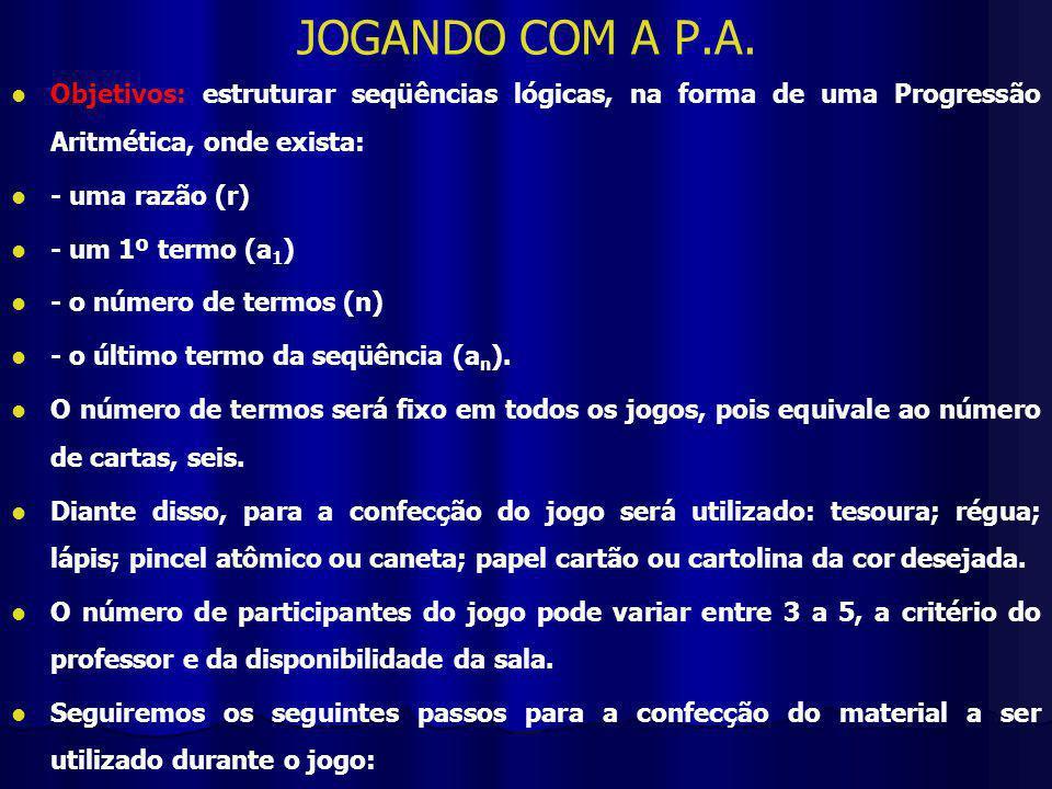 JOGANDO COM A P.A.