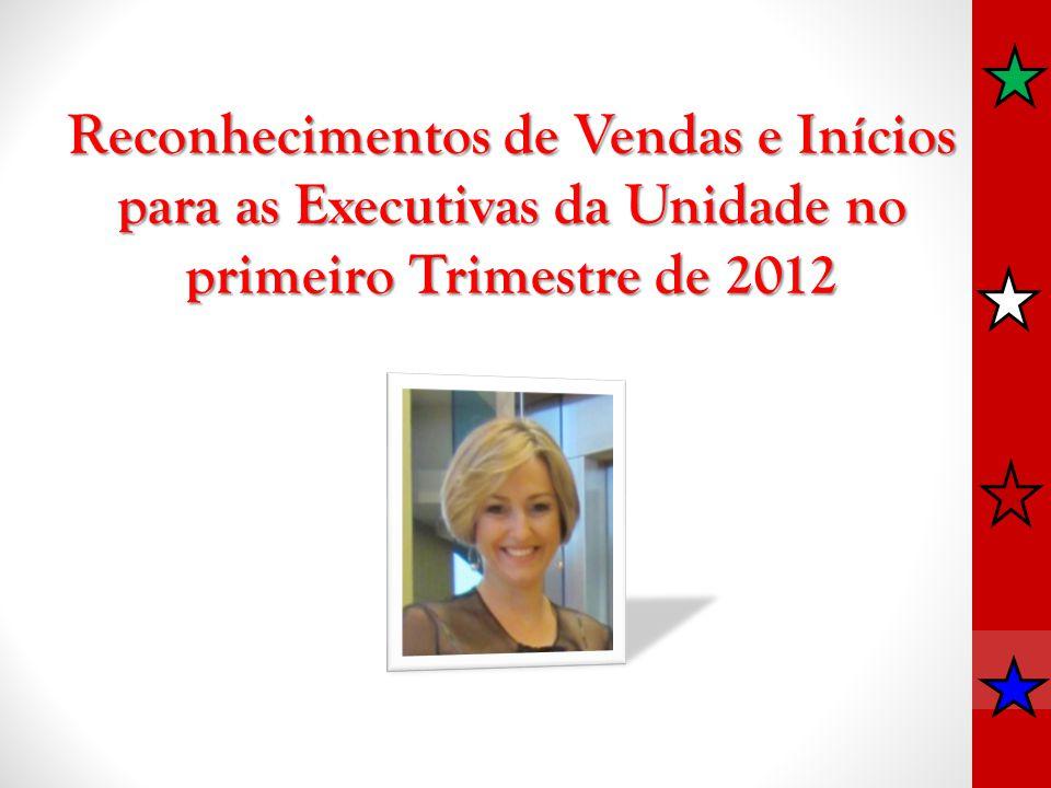Reconhecimentos de Vendas e Inícios para as Executivas da Unidade no primeiro Trimestre de 2012