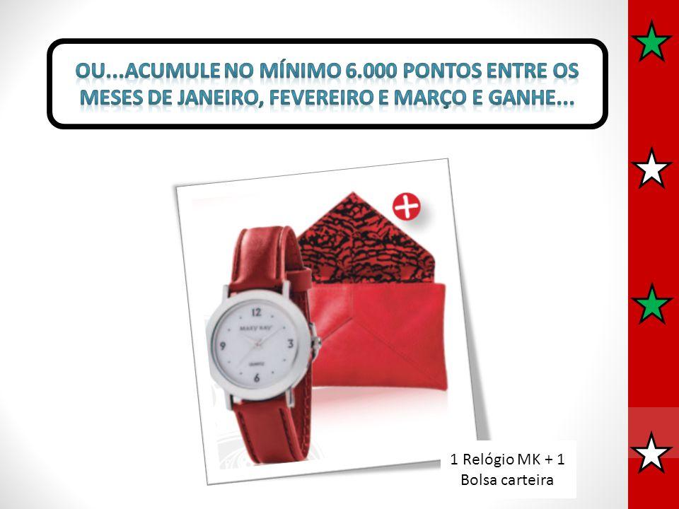 1 Relógio MK + 1 Bolsa carteira