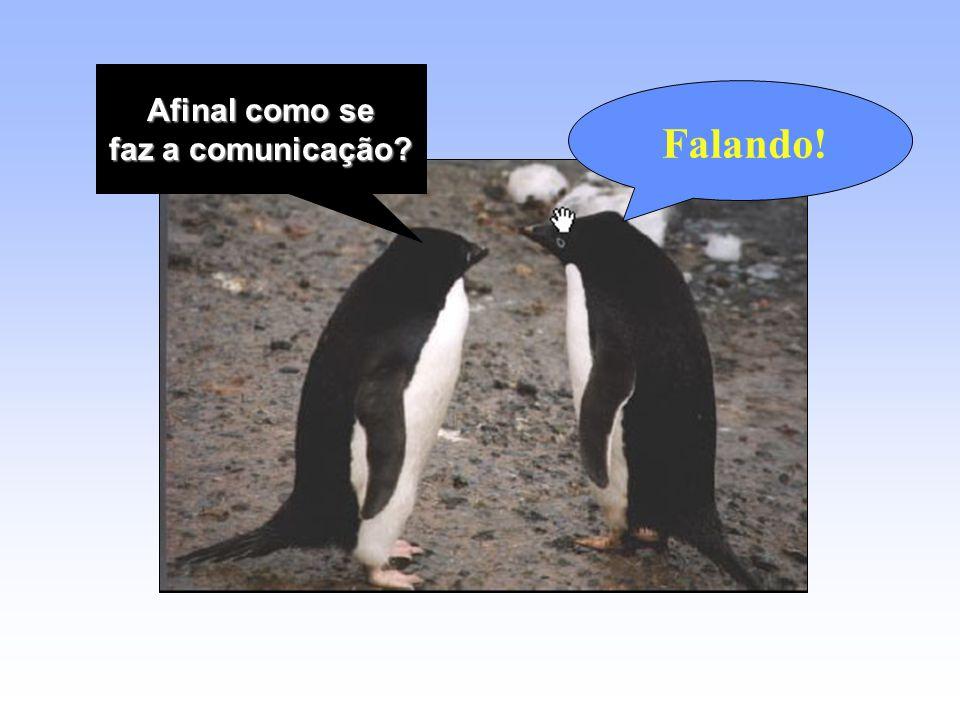 Afinal como se Afinal como se faz a comunicação? Falando!