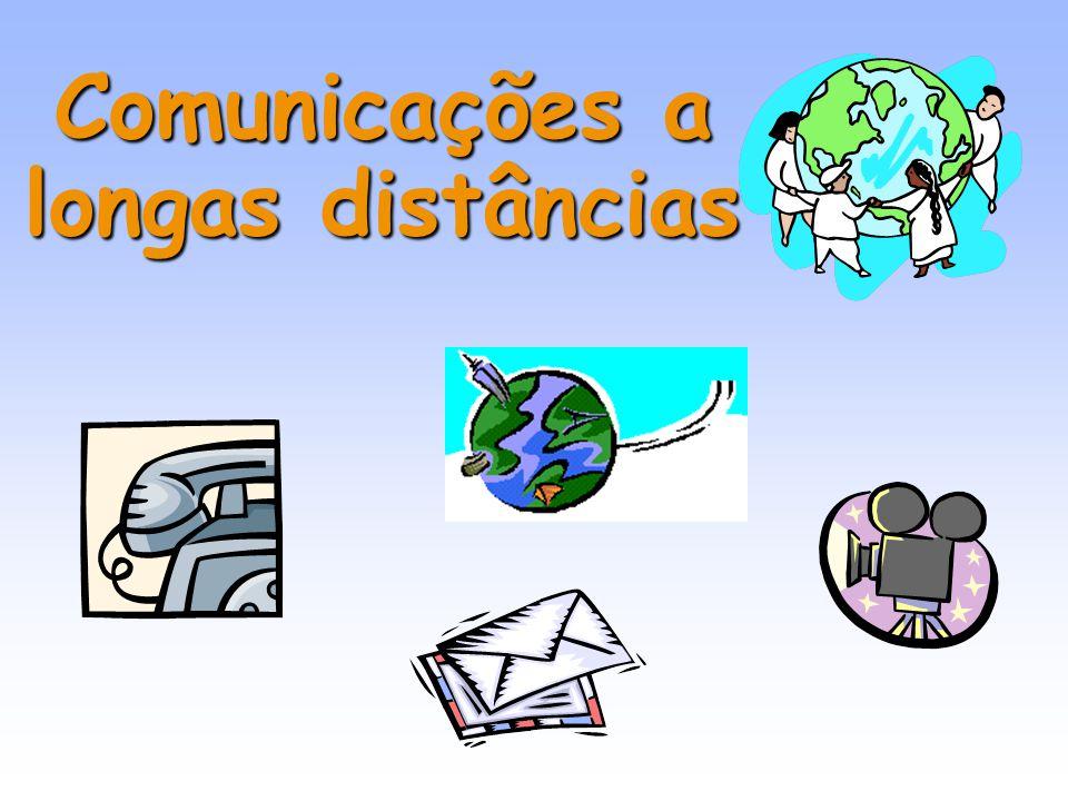 6 A radiação electromagnética na comunicação As ondas electromagnéticas são utilizadas nas comunicações a curtas e a longas distâncias, pois deslocam-se em meios materiais e no vazio e não são absorvidas pelo ar, não perdem intensidade ao longo da sua trajectória de prpagação.