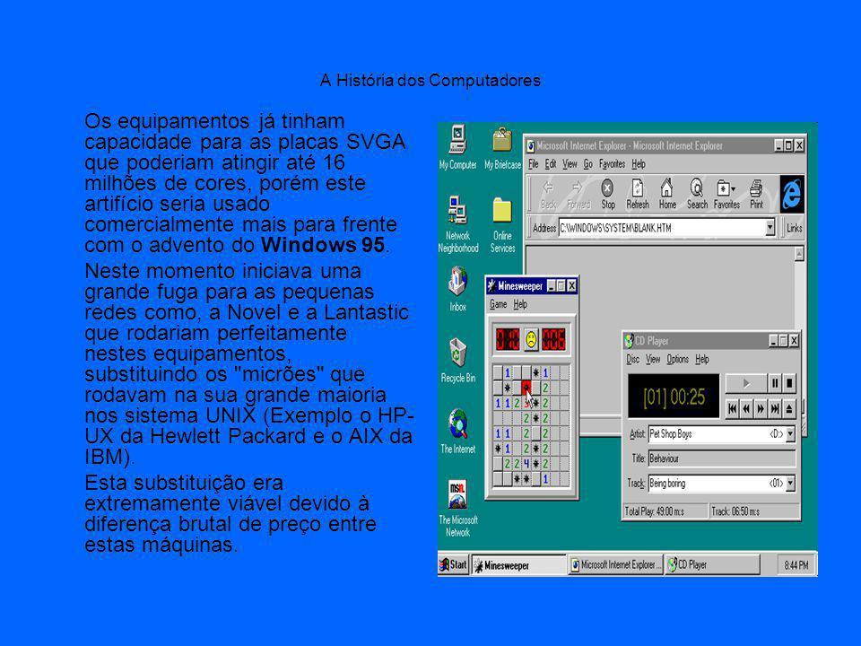 Os equipamentos já tinham capacidade para as placas SVGA que poderiam atingir até 16 milhões de cores, porém este artifício seria usado comercialmente mais para frente com o advento do Windows 95.