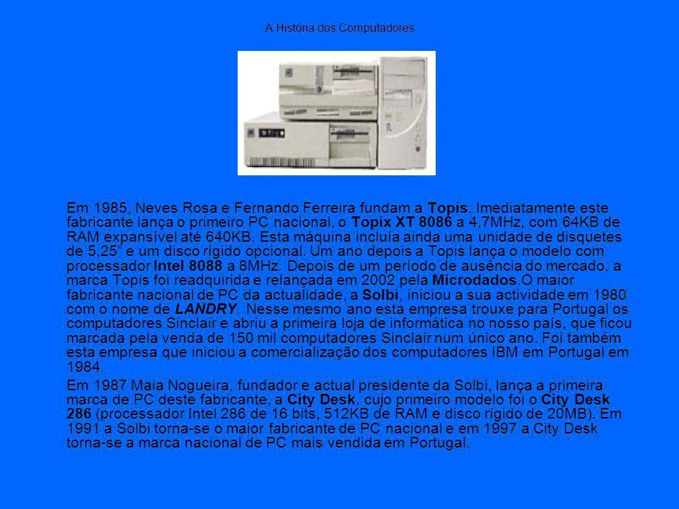 A História dos Computadores Em 1985, Neves Rosa e Fernando Ferreira fundam a Topis.