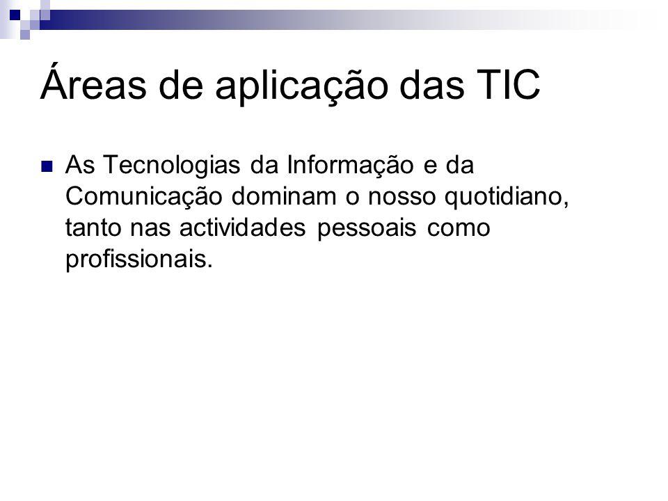 Áreas de aplicação das TIC Aeronáutica