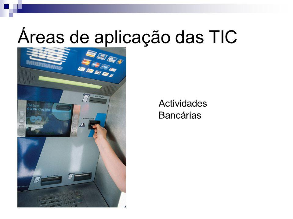 Áreas de aplicação das TIC Actividades Bancárias
