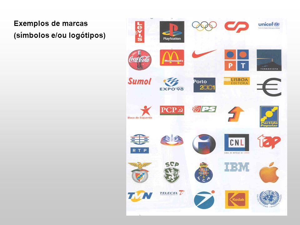 Exemplos de marcas (símbolos e/ou logótipos)